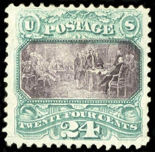 Price of US Stamp Scott # 120 - 1869 24c Pictorial Declaration. Spink Shreves Galleries, Jul 2015, Sale 151, Lot 111