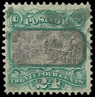 Value of US Stamps Scott #120: 1869 24c Pictorial Declaration. H.R. Harmer, Jun 2015, Sale 3007, Lot 3194