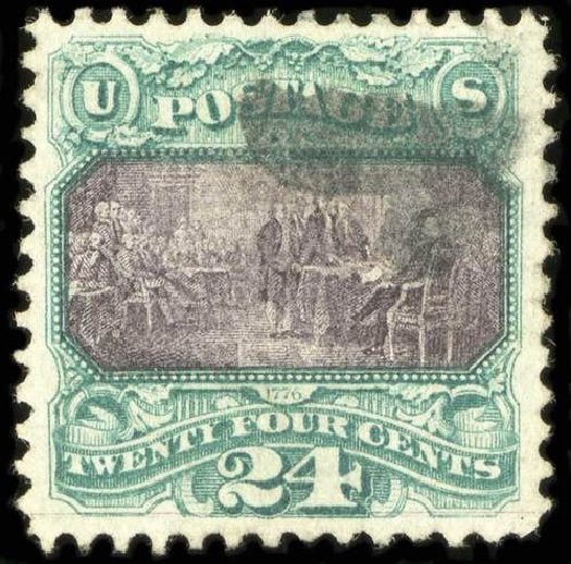 Cost of US Stamps Scott Cat. 120 - 1869 24c Pictorial Declaration. Spink Shreves Galleries, Jul 2015, Sale 151, Lot 112