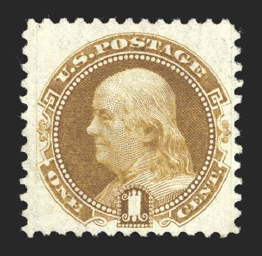 Price of US Stamp Scott Cat. 123: 1c 1875 Pictorial Re-issue Franklin. Spink Shreves Galleries, Mar 2013, Sale 142, Lot 197