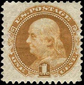 Price of US Stamp Scott Cat. 123: 1875 1c Pictorial Re-issue Franklin. Regency-Superior, Jan 2015, Sale 109, Lot 785