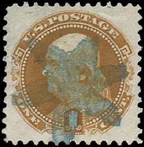 Price of US Stamp Scott Catalog #123: 1875 1c Pictorial Re-issue Franklin. Regency-Superior, Aug 2015, Sale 112, Lot 286
