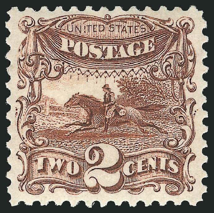 Prices of US Stamps Scott #124 - 2c 1875 Pictorial Re-issue Horse Rider. Robert Siegel Auction Galleries, Apr 2015, Sale 1096, Lot 241