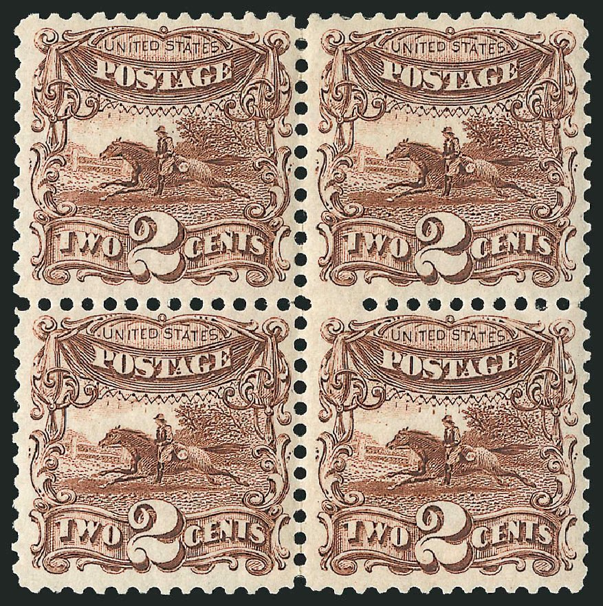 US Stamp Price Scott Catalogue # 124 - 2c 1875 Pictorial Re-issue Horse Rider. Robert Siegel Auction Galleries, Apr 2015, Sale 1096, Lot 253