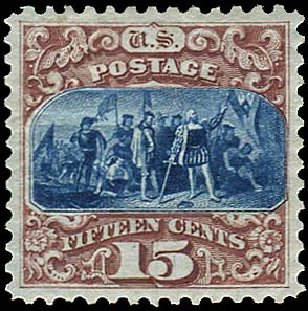 Prices of US Stamps Scott #129: 1875 15c Pictorial Re-issue Columbus. Regency-Superior, Aug 2015, Sale 112, Lot 292