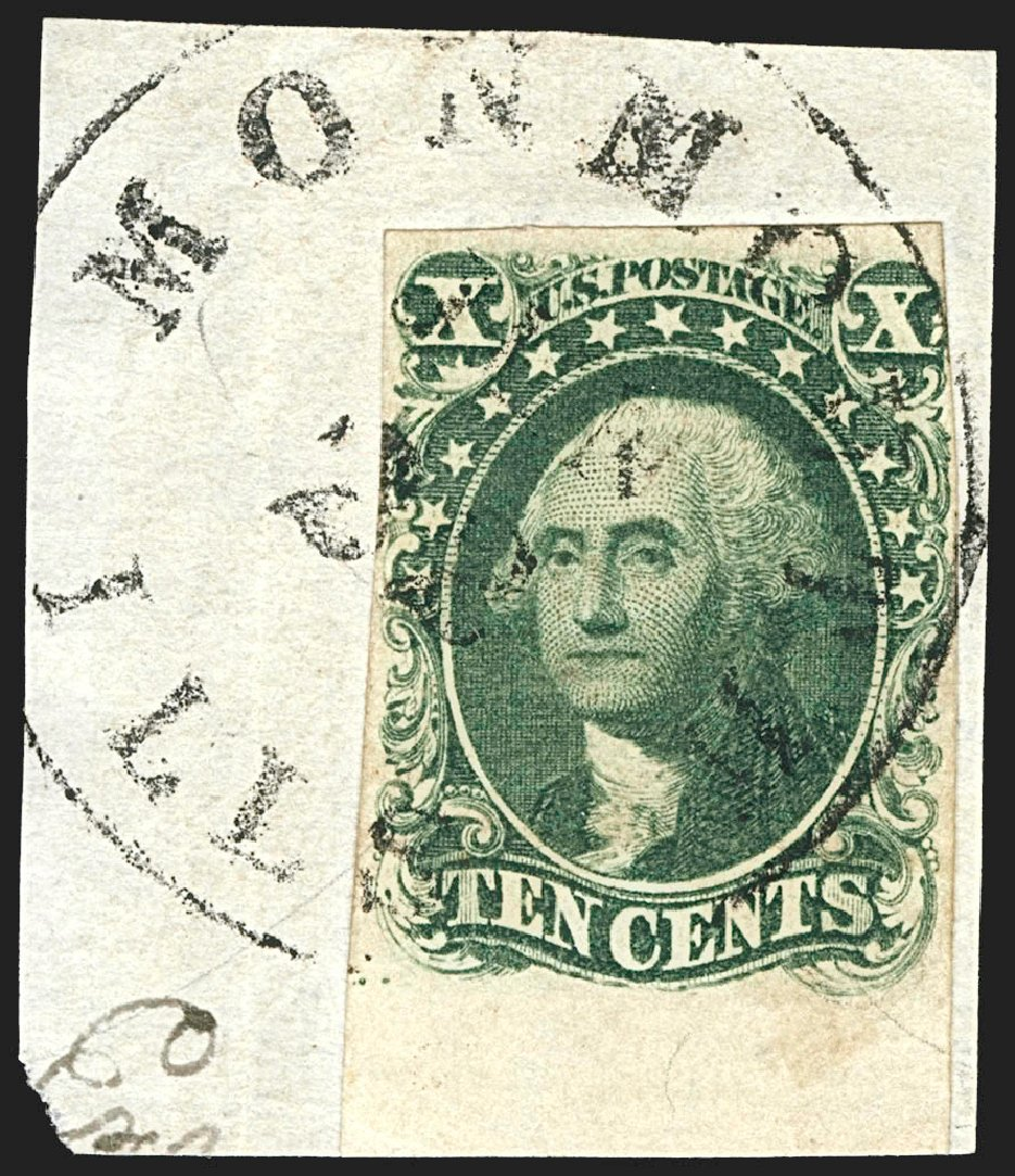 US Stamp Prices Scott 13: 1855 10c Washington. Robert Siegel Auction Galleries, Jul 2015, Sale 1107, Lot 68