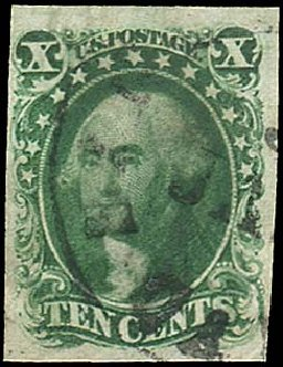Price of US Stamps Scott Cat. 13: 1855 10c Washington. Regency-Superior, Aug 2015, Sale 112, Lot 79
