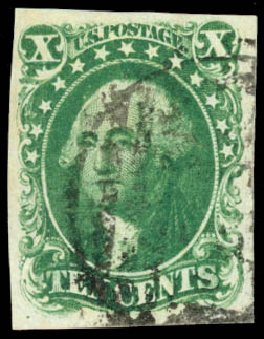 Prices of US Stamps Scott Catalog #13 - 10c 1855 Washington. Daniel Kelleher Auctions, Aug 2015, Sale 672, Lot 2151