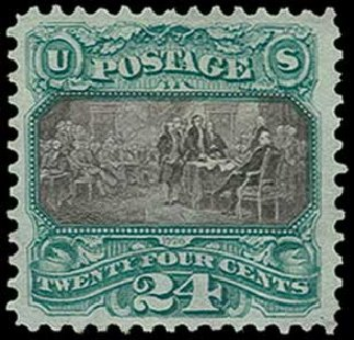 US Stamp Price Scott Cat. # 130: 24c 1875 Pictorial Re-issue Declaration. H.R. Harmer, Jun 2015, Sale 3007, Lot 3201