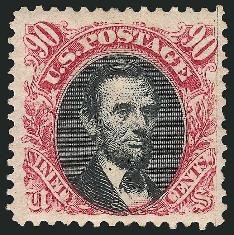 US Stamp Price Scott Catalogue # 132: 90c 1875 Pictorial Re-issue Lincoln. Robert Siegel Auction Galleries, Apr 2015, Sale 1096, Lot 250
