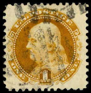 US Stamp Prices Scott Catalog # 133 - 1880 1c Pictorial Re-issue Franklin. Daniel Kelleher Auctions, Aug 2015, Sale 672, Lot 2398