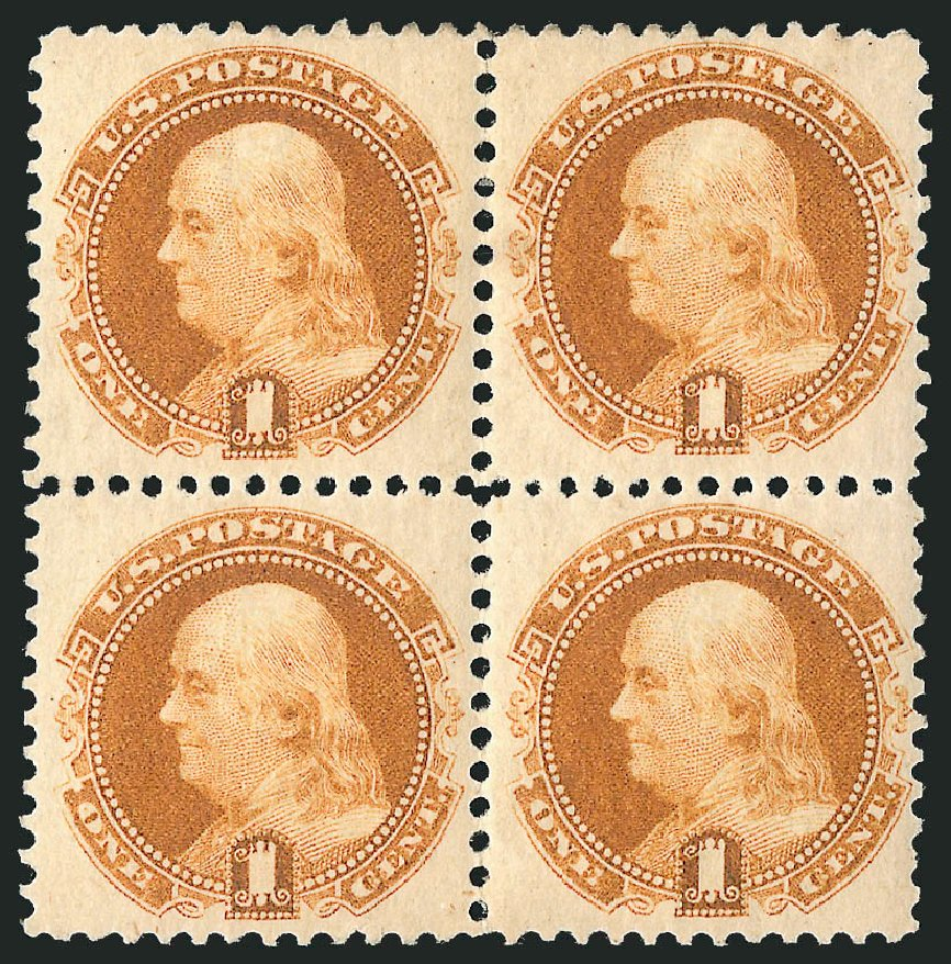 Cost of US Stamp Scott Catalogue # 133: 1880 1c Pictorial Re-issue Franklin. Robert Siegel Auction Galleries, Apr 2015, Sale 1096, Lot 258