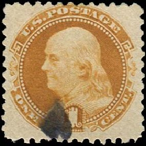 US Stamps Value Scott # 133 - 1880 1c Pictorial Re-issue Franklin. Regency-Superior, Jan 2015, Sale 109, Lot 799