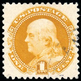 US Stamp Price Scott Cat. # 133 - 1880 1c Pictorial Re-issue Franklin. Schuyler J. Rumsey Philatelic Auctions, Apr 2015, Sale 60, Lot 2139