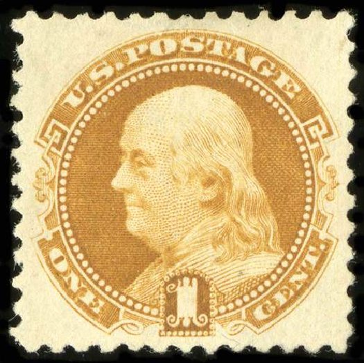 US Stamps Value Scott Catalogue 133 - 1c 1880 Pictorial Re-issue Franklin. Spink Shreves Galleries, Jul 2015, Sale 151, Lot 130