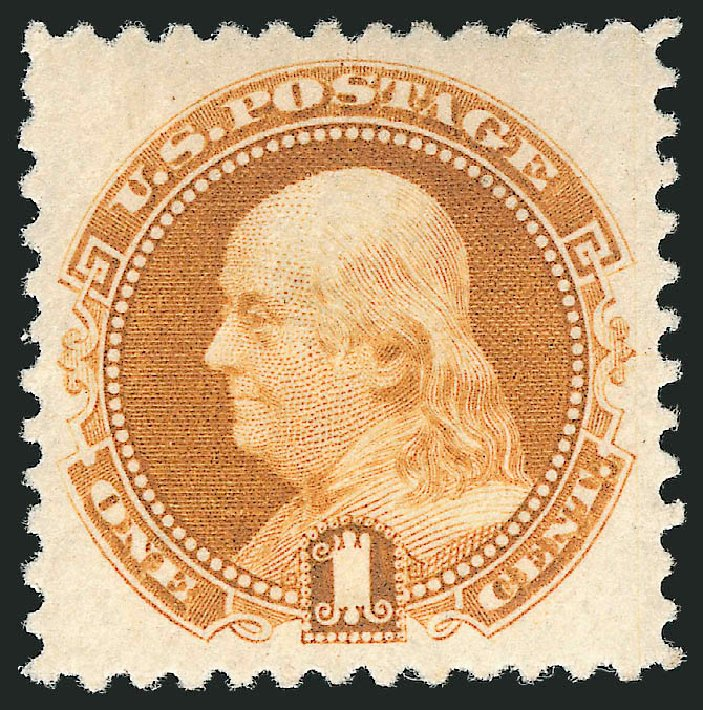 Price of US Stamps Scott #133 - 1880 1c Pictorial Re-issue Franklin. Robert Siegel Auction Galleries, Apr 2015, Sale 1096, Lot 251