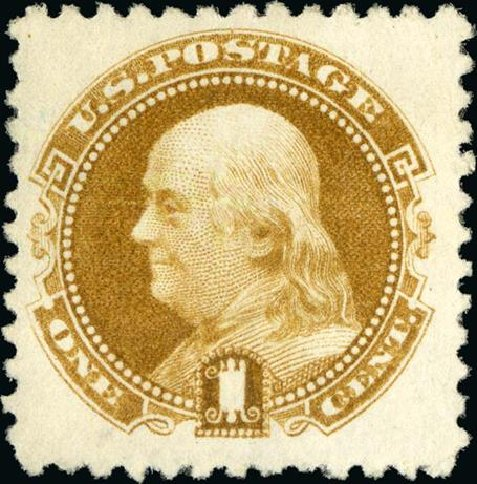 Costs of US Stamps Scott Catalog #133: 1880 1c Pictorial Re-issue Franklin. Spink Shreves Galleries, Jan 2015, Sale 150, Lot 101