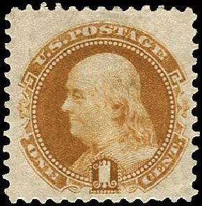 US Stamp Prices Scott #133 - 1c 1880 Pictorial Re-issue Franklin. Regency-Superior, Nov 2014, Sale 108, Lot 314