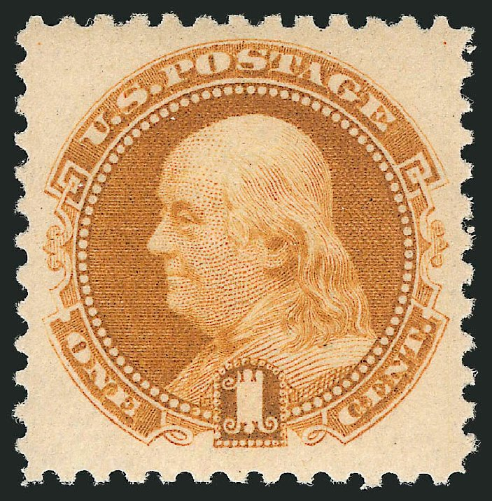 US Stamps Prices Scott 133: 1880 1c Pictorial Re-issue Franklin. Robert Siegel Auction Galleries, Feb 2015, Sale 1092, Lot 1114