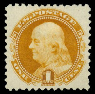 Values of US Stamp Scott Catalogue 133 - 1880 1c Pictorial Re-issue Franklin. Daniel Kelleher Auctions, Jan 2015, Sale 663, Lot 1375