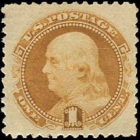 Prices of US Stamps Scott Catalogue # 133: 1c 1880 Pictorial Re-issue Franklin. Regency-Superior, Nov 2014, Sale 108, Lot 312