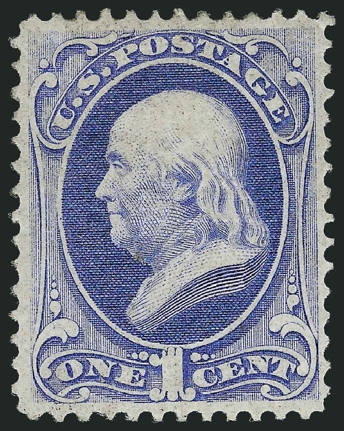 Prices of US Stamp Scott # 134 - 1870 1c Franklin National Grill. Robert Siegel Auction Galleries, Nov 2013, Sale 1057, Lot 704