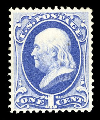 US Stamps Price Scott 134 - 1c 1870 Franklin National Grill. Cherrystone Auctions, Jul 2015, Sale 201507, Lot 2056