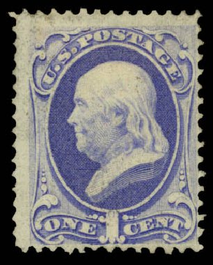 Costs of US Stamp Scott Catalogue #134 - 1870 1c Franklin National Grill. Daniel Kelleher Auctions, May 2015, Sale 669, Lot 2606