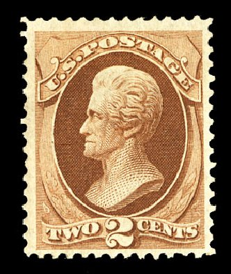 Value of US Stamps Scott Cat. #135 - 2c 1870 Jackson Grill. Cherrystone Auctions, Jul 2015, Sale 201507, Lot 2057