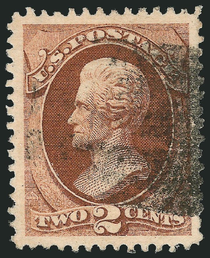 Price of US Stamp Scott 135 - 1870 2c Jackson Grill. Robert Siegel Auction Galleries, Nov 2014, Sale 1084, Lot 3367