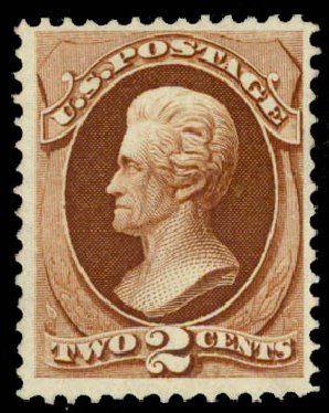 Value of US Stamp Scott Cat. #135 - 1870 2c Jackson Grill. Daniel Kelleher Auctions, May 2015, Sale 669, Lot 2608