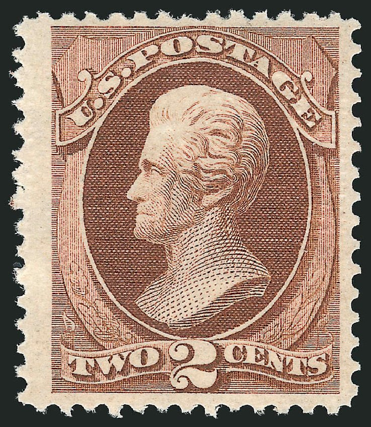 Costs of US Stamp Scott Cat. #135 - 1870 2c Jackson Grill. Robert Siegel Auction Galleries, Dec 2014, Sale 1090, Lot 1298