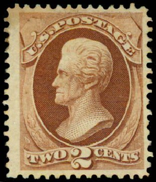 Cost of US Stamps Scott Cat. # 135 - 1870 2c Jackson Grill. Daniel Kelleher Auctions, May 2015, Sale 669, Lot 2609