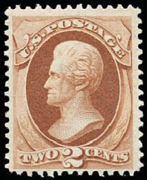 Cost of US Stamp Scott Catalogue #135: 1870 2c Jackson Grill. Schuyler J. Rumsey Philatelic Auctions, Apr 2015, Sale 60, Lot 2140