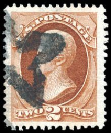 Costs of US Stamps Scott Cat. # 135 - 2c 1870 Jackson Grill. Schuyler J. Rumsey Philatelic Auctions, Apr 2015, Sale 60, Lot 2141