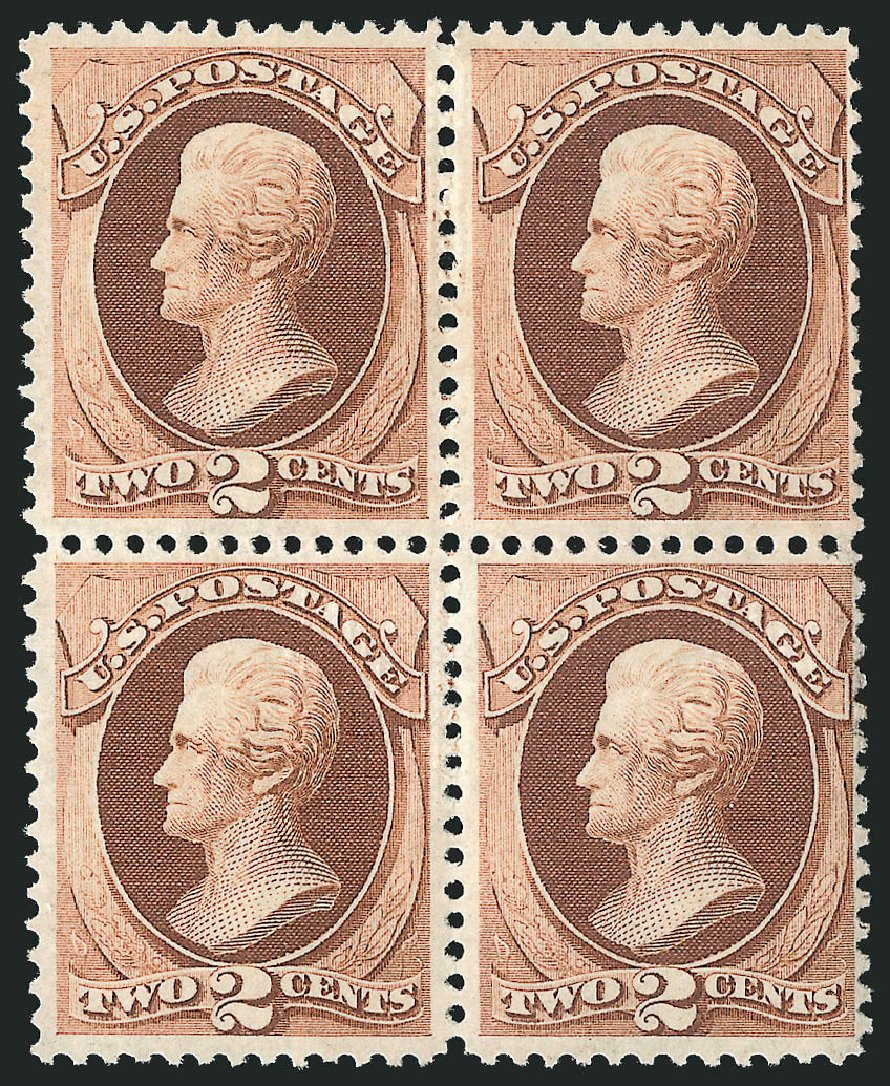 Prices of US Stamps Scott Catalogue #135: 1870 2c Jackson Grill. Robert Siegel Auction Galleries, Apr 2015, Sale 1096, Lot 261