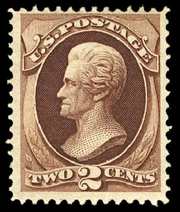Price of US Stamps Scott #135 - 2c 1870 Jackson Grill. Cherrystone Auctions, Jul 2015, Sale 201507, Lot 53