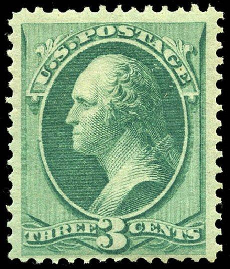 Costs of US Stamp Scott Cat. # 136: 1870 3c Washington Grill. Matthew Bennett International, May 2014, Sale 350, Lot 248