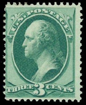 US Stamp Values Scott Cat. 136 - 1870 3c Washington Grill. Daniel Kelleher Auctions, Oct 2014, Sale 660, Lot 2168