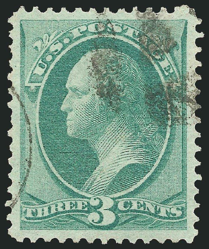 Values of US Stamp Scott Catalogue 136: 1870 3c Washington Grill. Robert Siegel Auction Galleries, Nov 2014, Sale 1084, Lot 3368