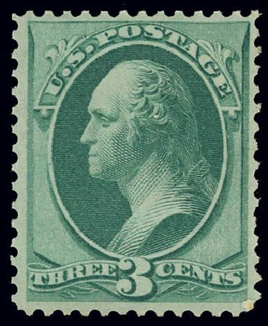 Cost of US Stamps Scott Cat. # 136 - 1870 3c Washington Grill. Daniel Kelleher Auctions, Feb 2013, Sale 634, Lot 110