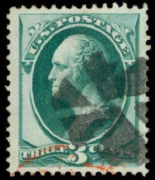 Costs of US Stamp Scott #136 - 3c 1870 Washington Grill. Daniel Kelleher Auctions, Mar 2013, Sale 635, Lot 305