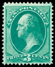 Price of US Stamp Scott 136: 3c 1870 Washington Grill. Schuyler J. Rumsey Philatelic Auctions, Apr 2015, Sale 60, Lot 2142