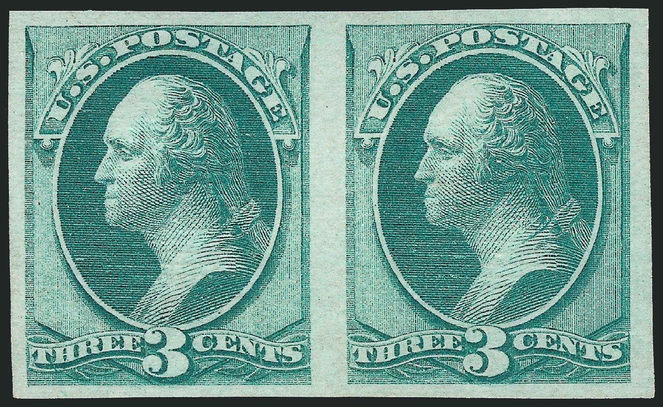 Value of US Stamp Scott # 136: 1870 3c Washington Grill. Robert Siegel Auction Galleries, Apr 2015, Sale 1096, Lot 262