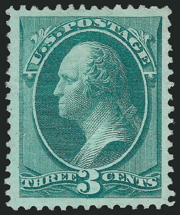 US Stamps Prices Scott Cat. 136 - 3c 1870 Washington Grill. Robert Siegel Auction Galleries, Nov 2013, Sale 1057, Lot 706