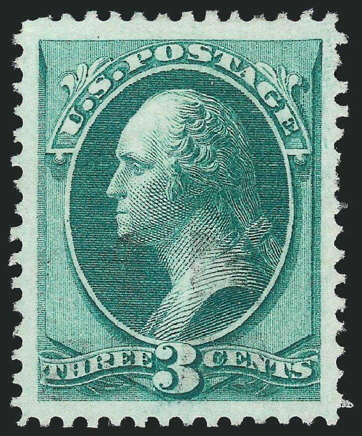 Values of US Stamp Scott Cat. 136: 3c 1870 Washington Grill. Robert Siegel Auction Galleries, Nov 2013, Sale 1061, Lot 3576