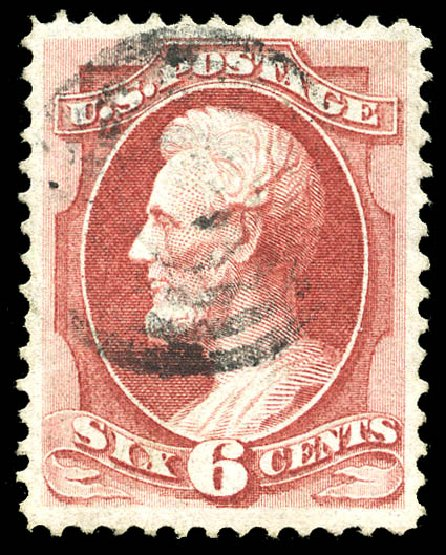 US Stamps Price Scott Catalog #137 - 6c 1870 Lincoln Grill. Matthew Bennett International, Feb 2015, Sale 351, Lot 108