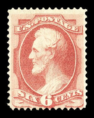 Costs of US Stamps Scott Catalog # 137 - 1870 6c Lincoln Grill. Cherrystone Auctions, Jul 2015, Sale 201507, Lot 2058