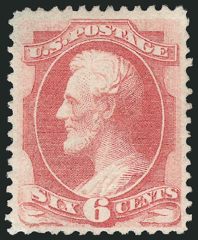 Prices of US Stamps Scott 137: 1870 6c Lincoln Grill. Robert Siegel Auction Galleries, Jul 2015, Sale 1107, Lot 258