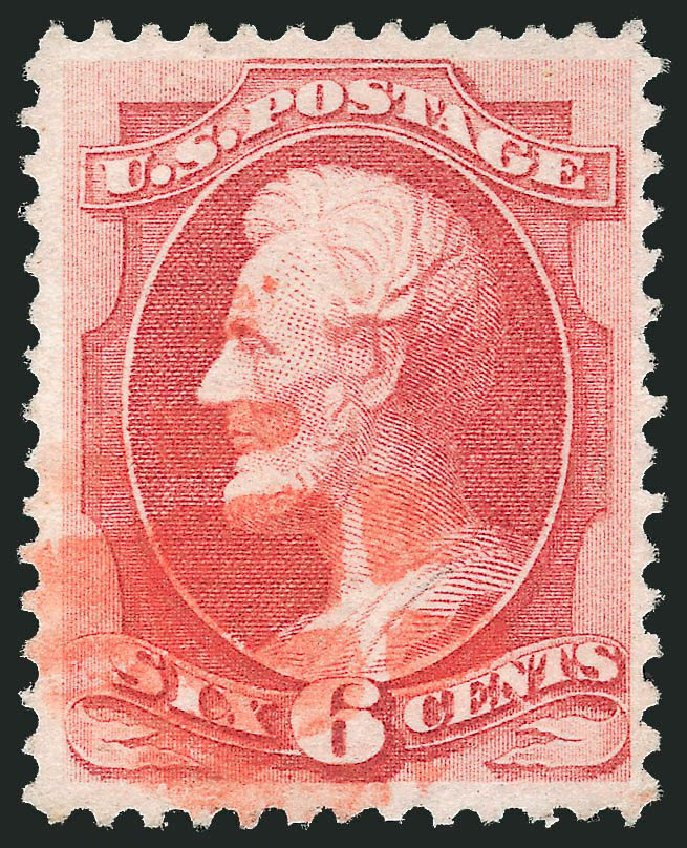 Value of US Stamps Scott Cat. 137: 1870 6c Lincoln Grill. Robert Siegel Auction Galleries, Dec 2014, Sale 1090, Lot 1299